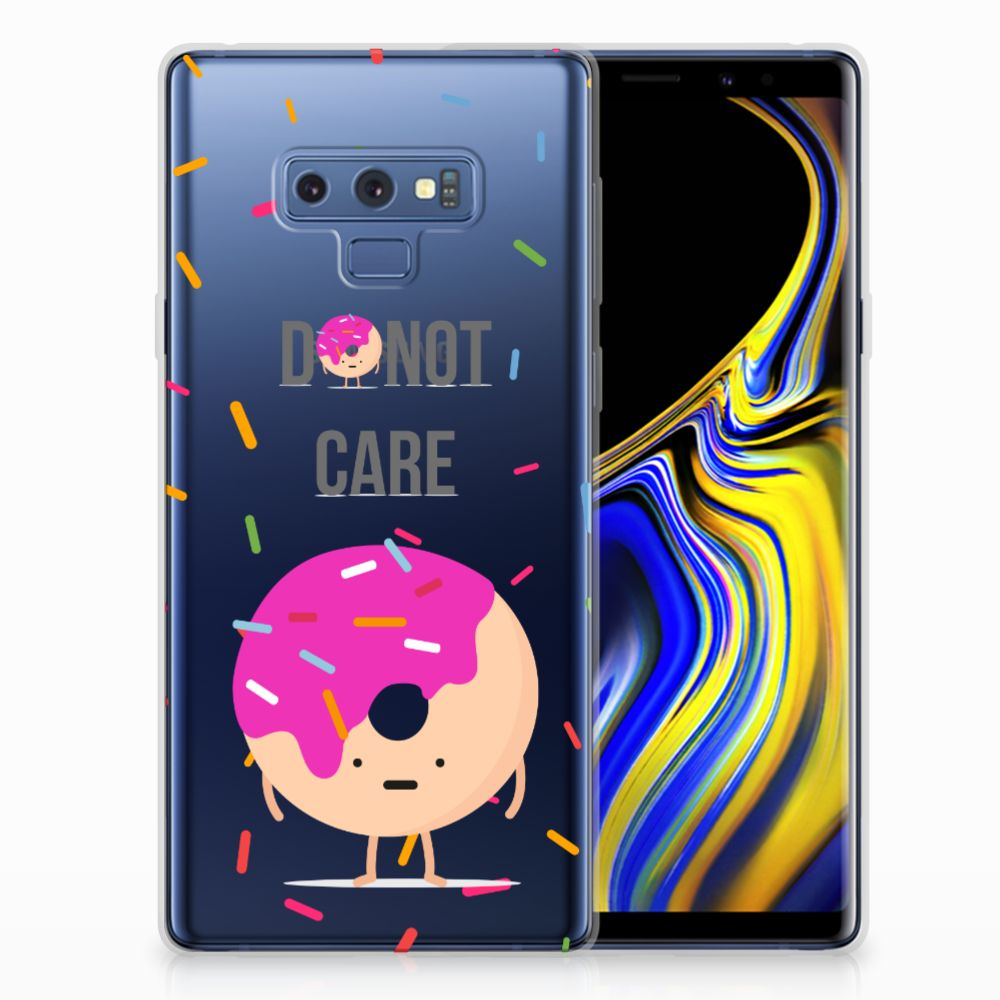 Samsung Galaxy Note 9 Siliconen Case Donut Roze