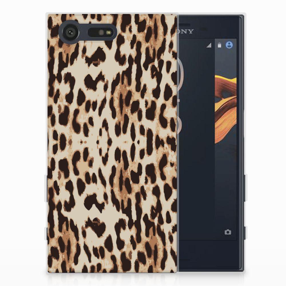 Sony Xperia X Compact Uniek TPU Hoesje Leopard
