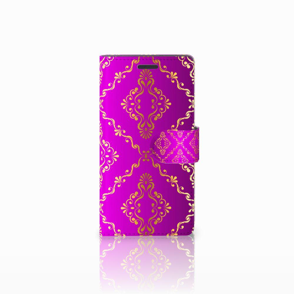 Wallet Case Nokia Lumia 830 Barok Roze