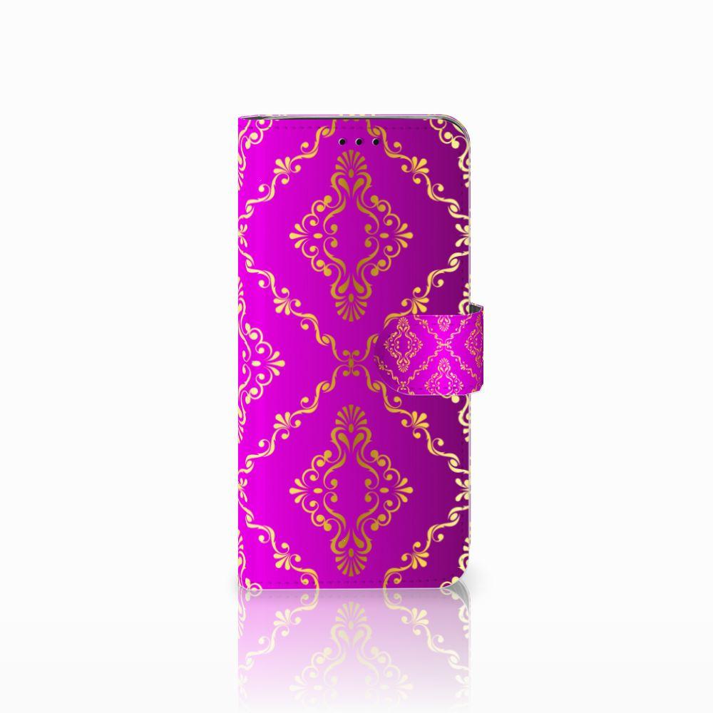 Samsung Galaxy J6 2018 Uniek Boekhoesje Barok Roze