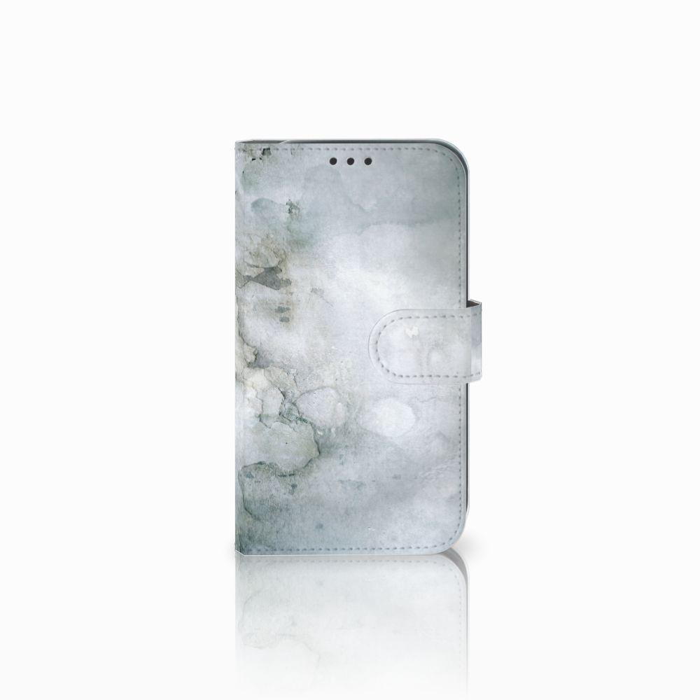 Samsung Galaxy Xcover 4 Uniek Boekhoesje Painting Grey