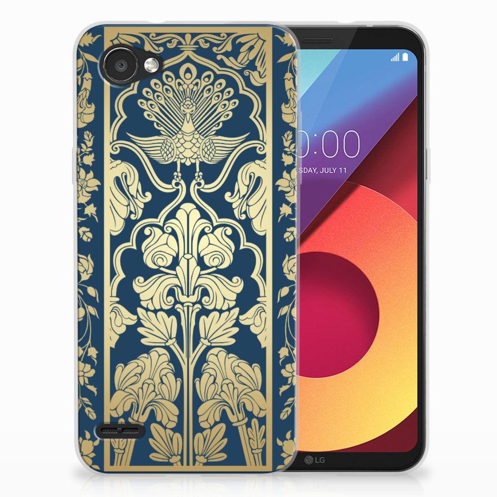 LG Q6 | LG Q6 Plus Uniek TPU Hoesje Golden Flowers