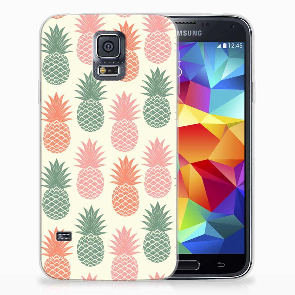 Samsung Galaxy S5 Siliconen Case Ananas