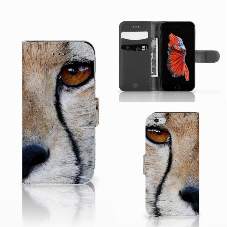 Apple iPhone 6   6s Telefoonhoesje met Pasjes Cheetah