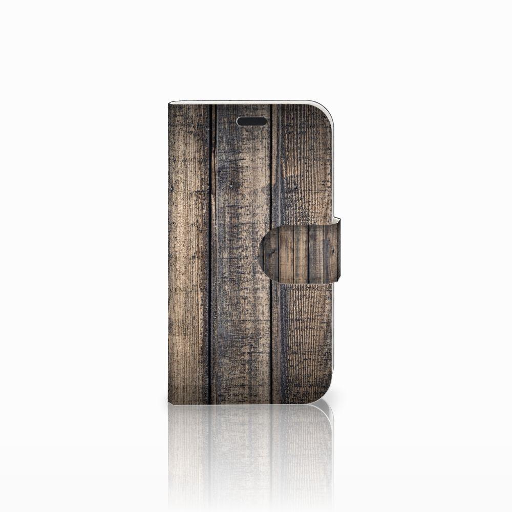 LG L Fino Boekhoesje Design Steigerhout