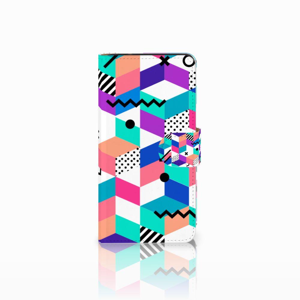 Samsung Galaxy J2 2016 Bookcase Blokken Kleurrijk