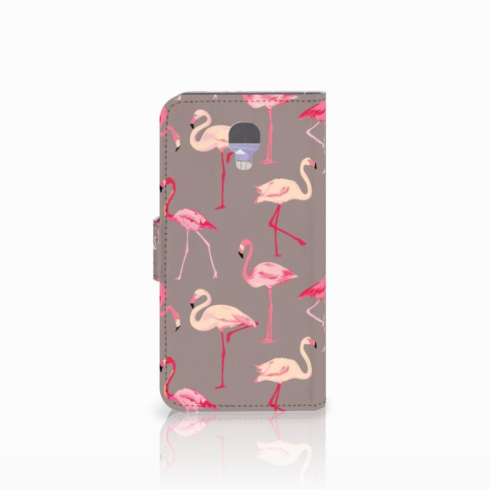 LG X Screen Telefoonhoesje met Pasjes Flamingo