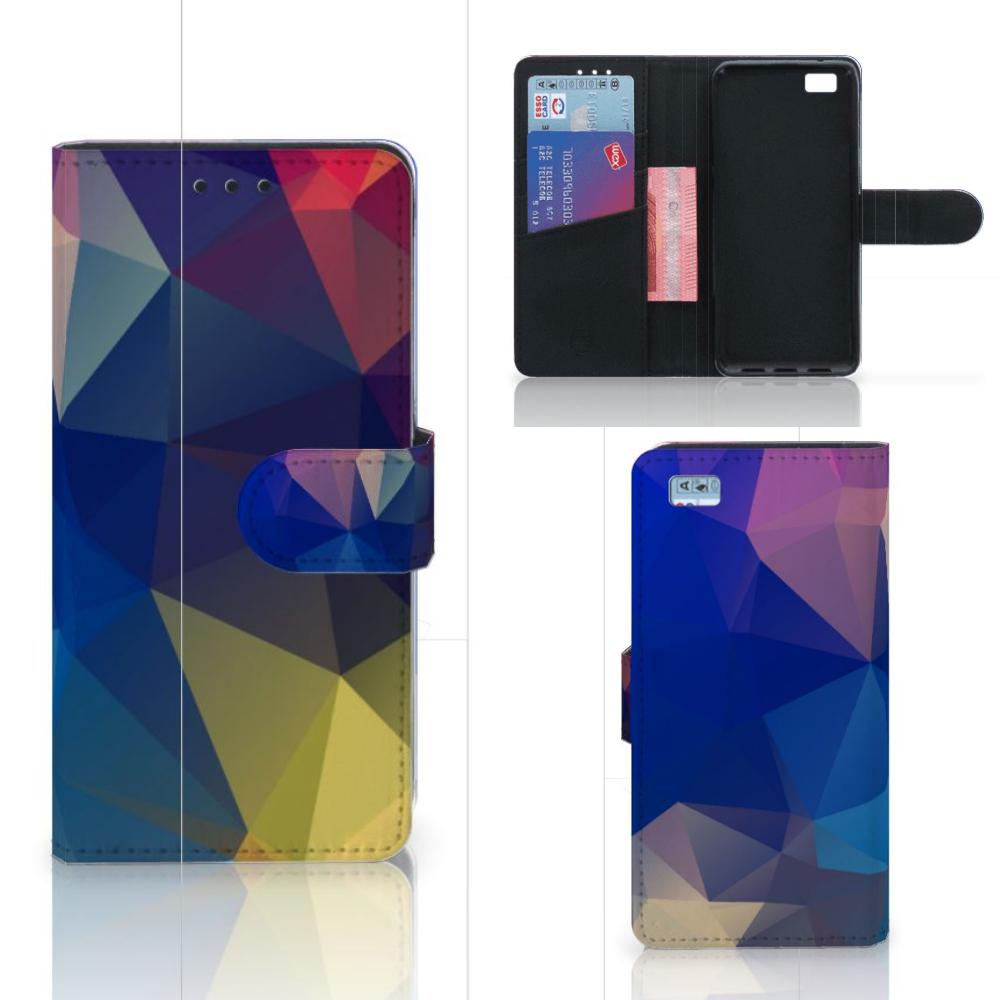 Huawei Ascend P8 Lite Bookcase Polygon Dark