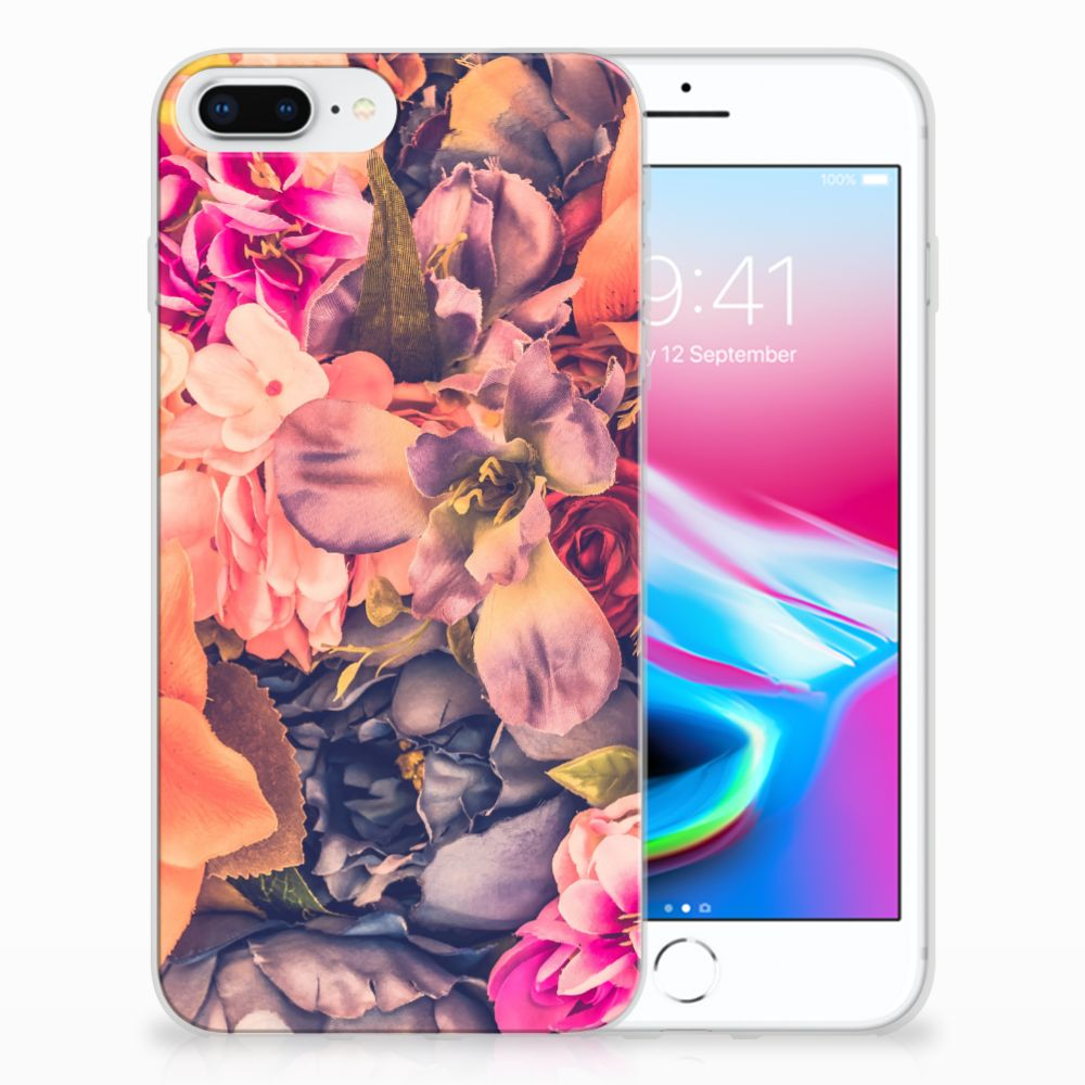 Apple iPhone 7 Plus | 8 Plus TPU Hoesje Design Bosje Bloemen