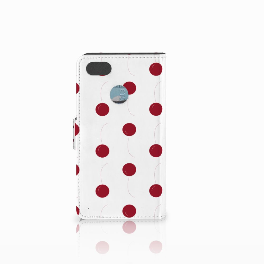 Huawei Y6 Pro 2017 Book Cover Cherries
