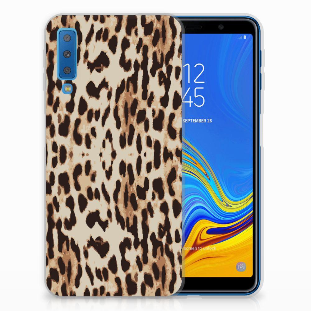 Samsung Galaxy A7 (2018) Leuk Hoesje Leopard
