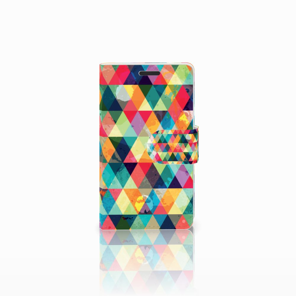 Microsoft Lumia 435 Uniek Boekhoesje Geruit