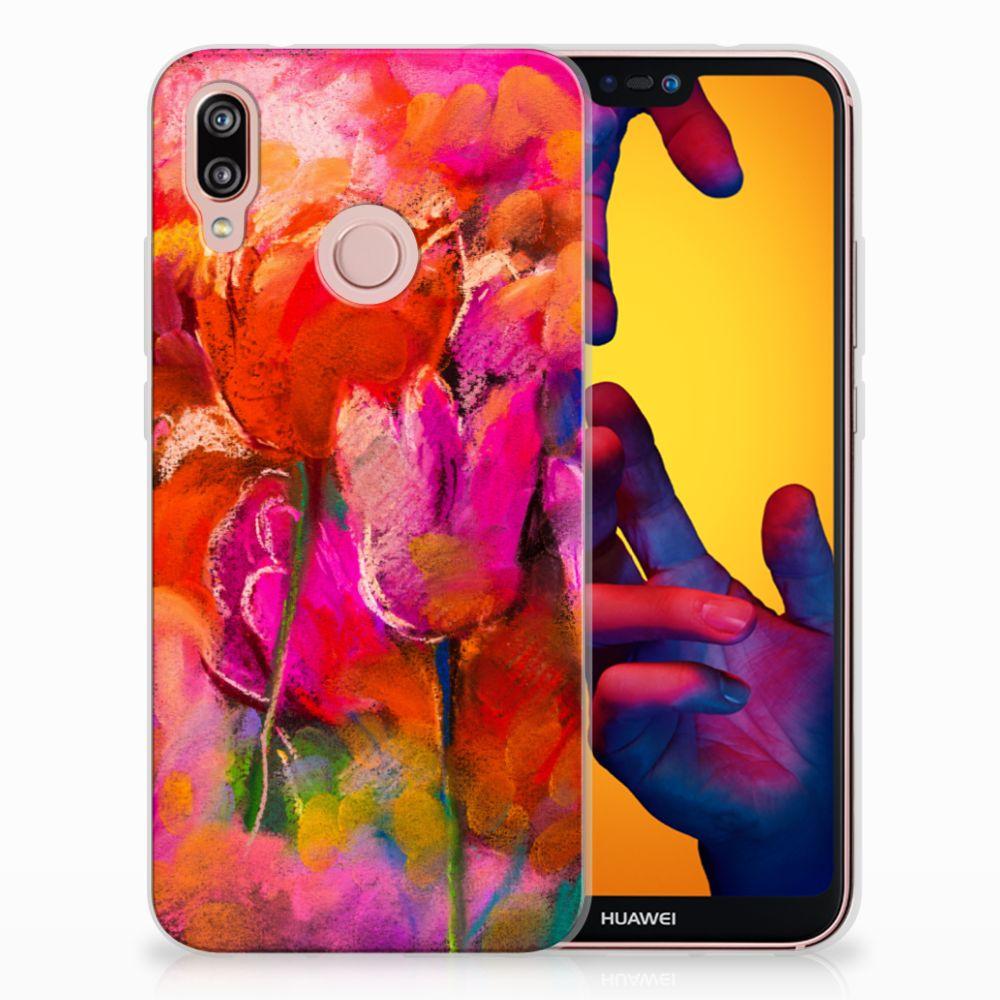 Huawei P20 Lite TPU Hoesje Design Tulips