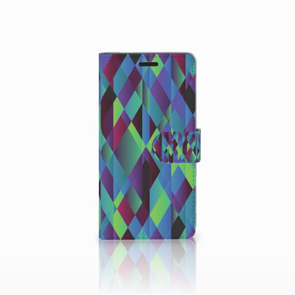 Samsung Galaxy A7 2015 Bookcase Abstract Green Blue