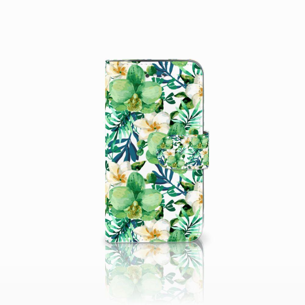 Samsung Galaxy S4 Uniek Boekhoesje Orchidee Groen