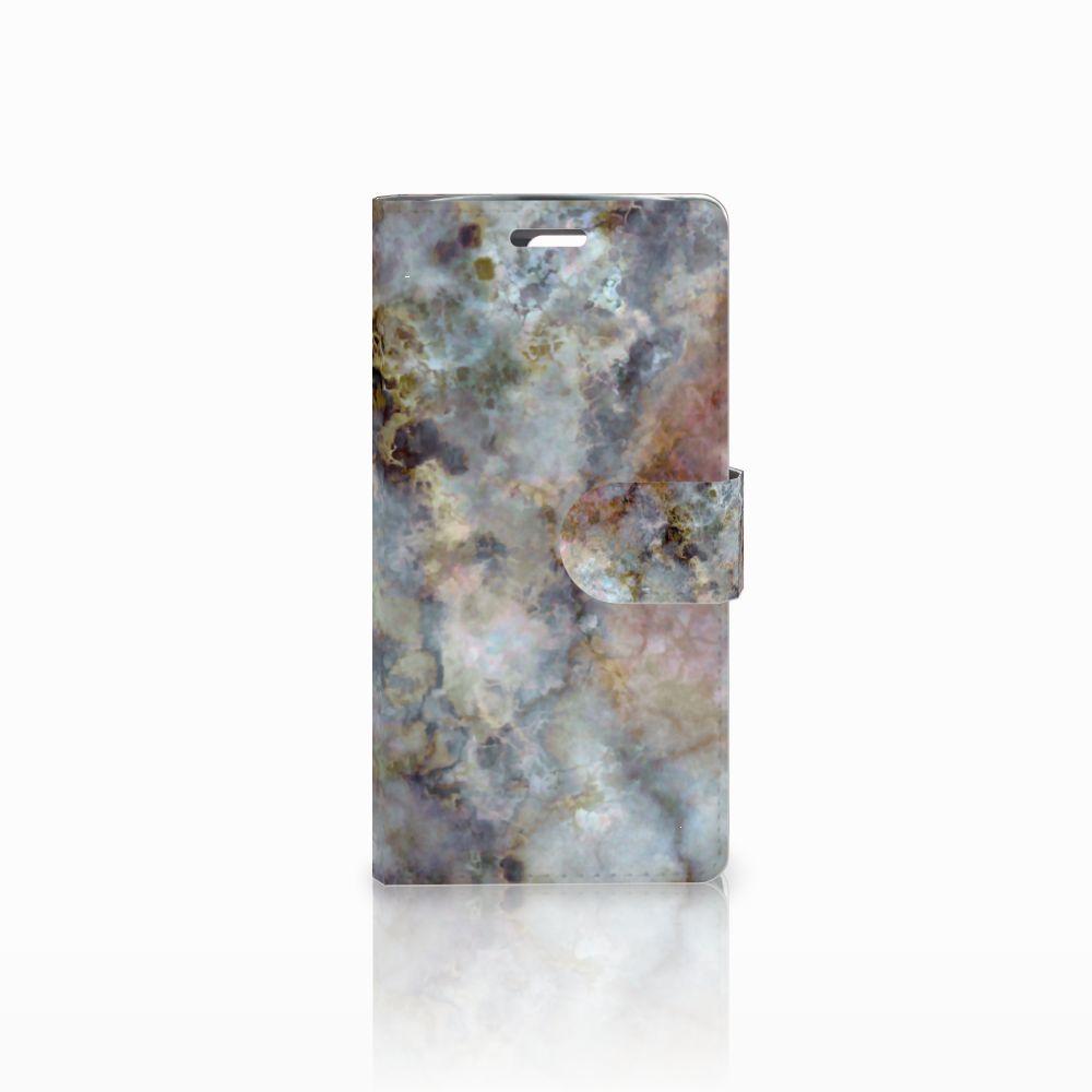 LG K10 2015 Boekhoesje Design Marmer Grijs