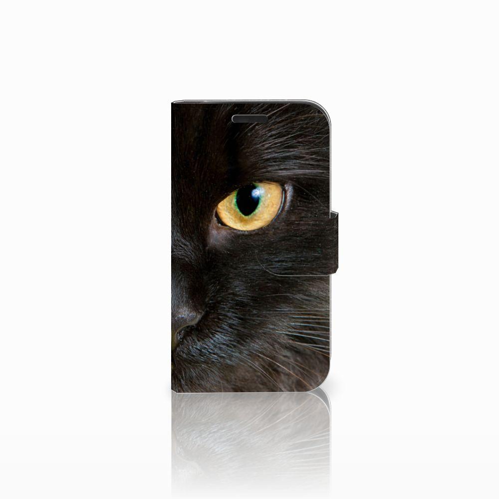 LG K4 Uniek Boekhoesje Zwarte Kat