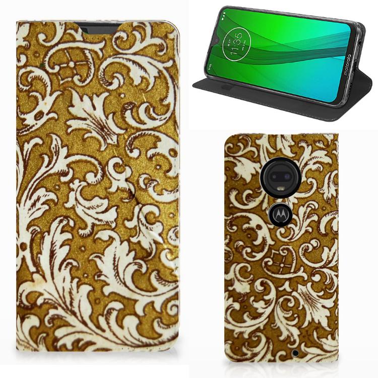 Telefoon Hoesje Motorola Moto G7 | G7 Plus Barok Goud