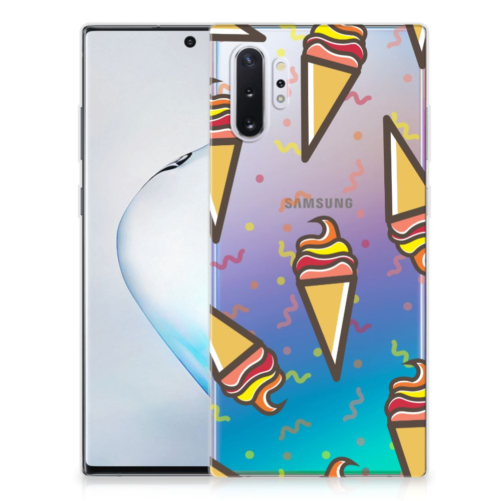 Samsung Galaxy Note 10 Plus Siliconen Case Icecream