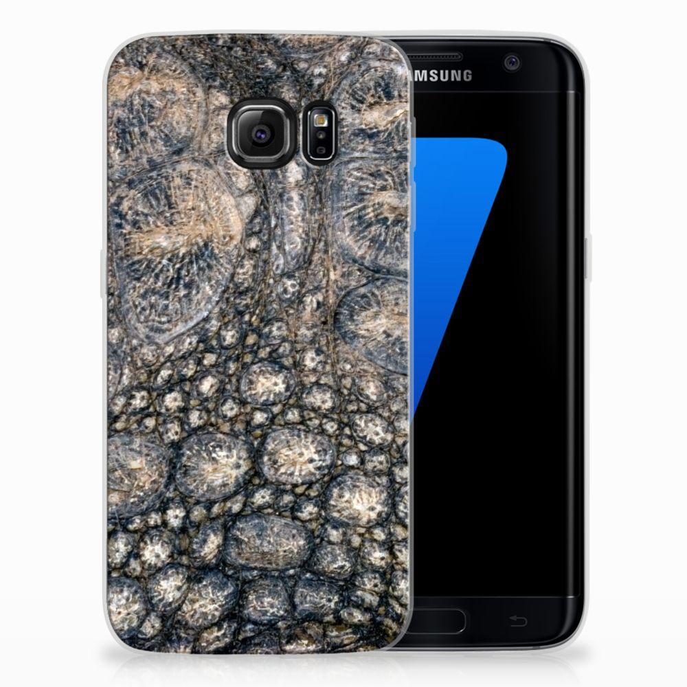Samsung Galaxy S7 Edge Uniek TPU Hoesje Krokodillenprint