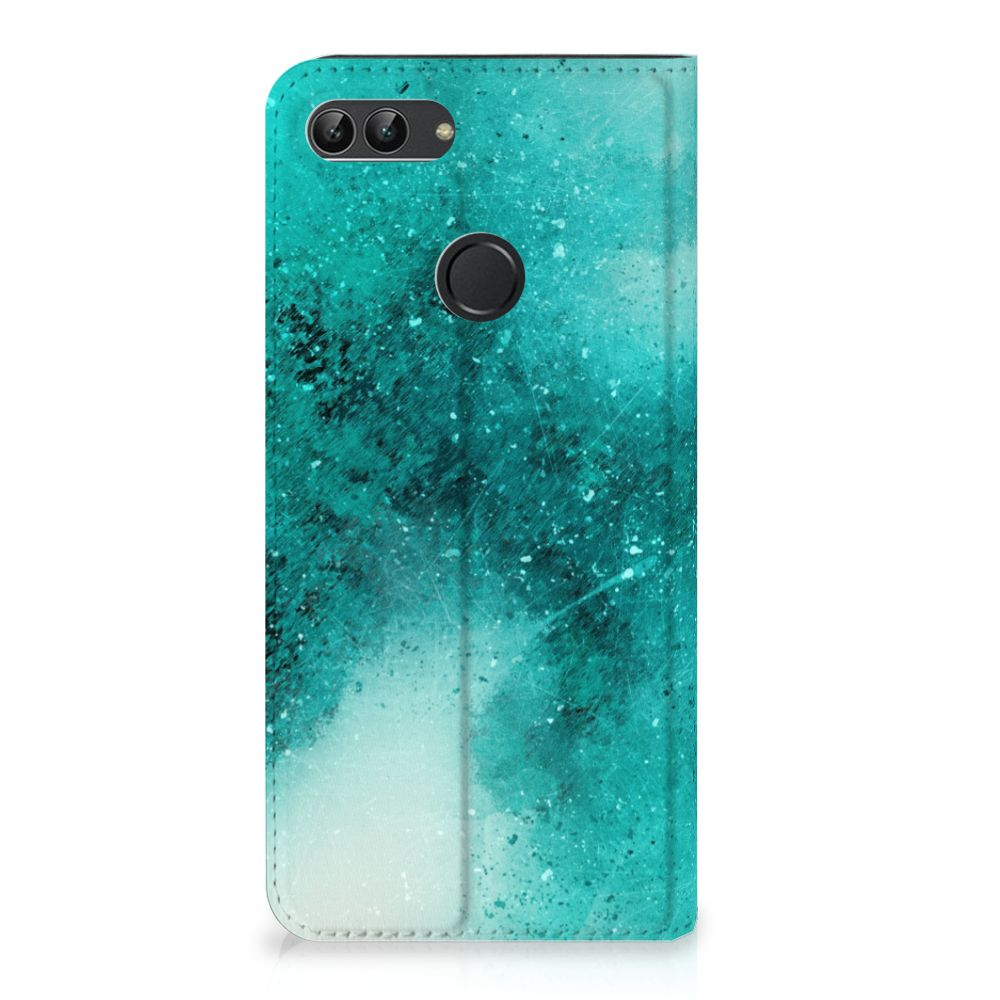 Bookcase Huawei P Smart Painting Blue