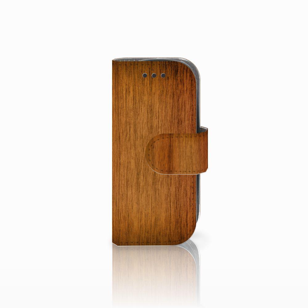 Nokia 3310 (2017) Uniek Boekhoesje Donker Hout