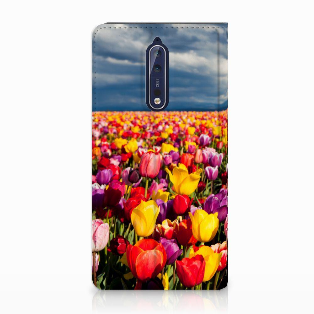 Nokia 8 Uniek Standcase Hoesje Tulpen