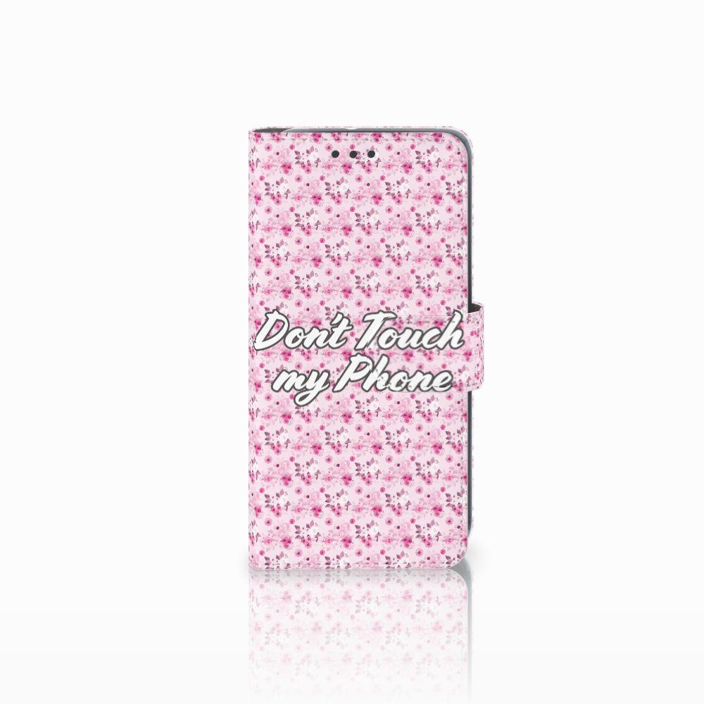 HTC U11 Life Uniek Boekhoesje Flowers Pink DTMP