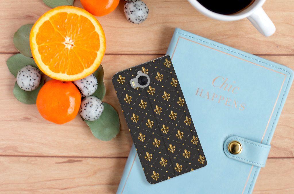 Huawei Y5 | Y6 2017 Hoesje met Magneet Franse Lelie