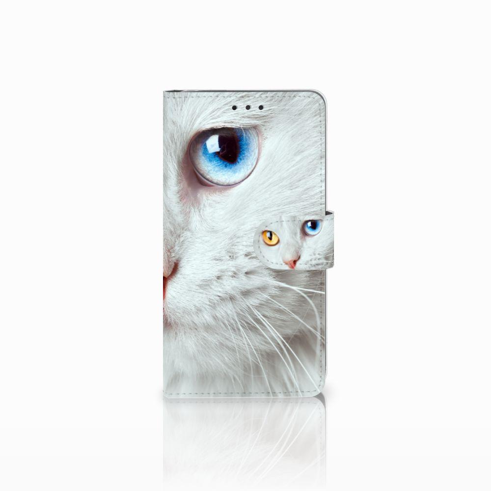LG G4 Uniek Boekhoesje Witte Kat