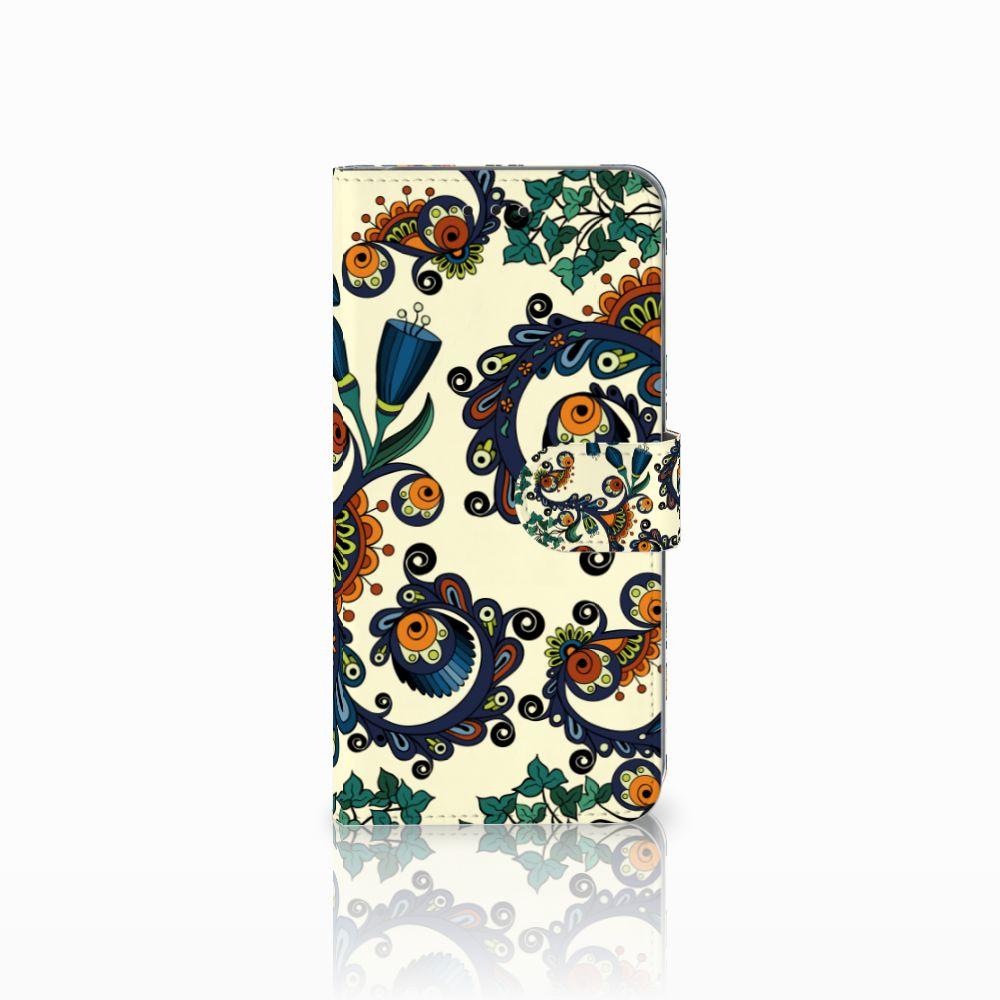 Samsung Galaxy A6 Plus 2018 Boekhoesje Design Barok Flower