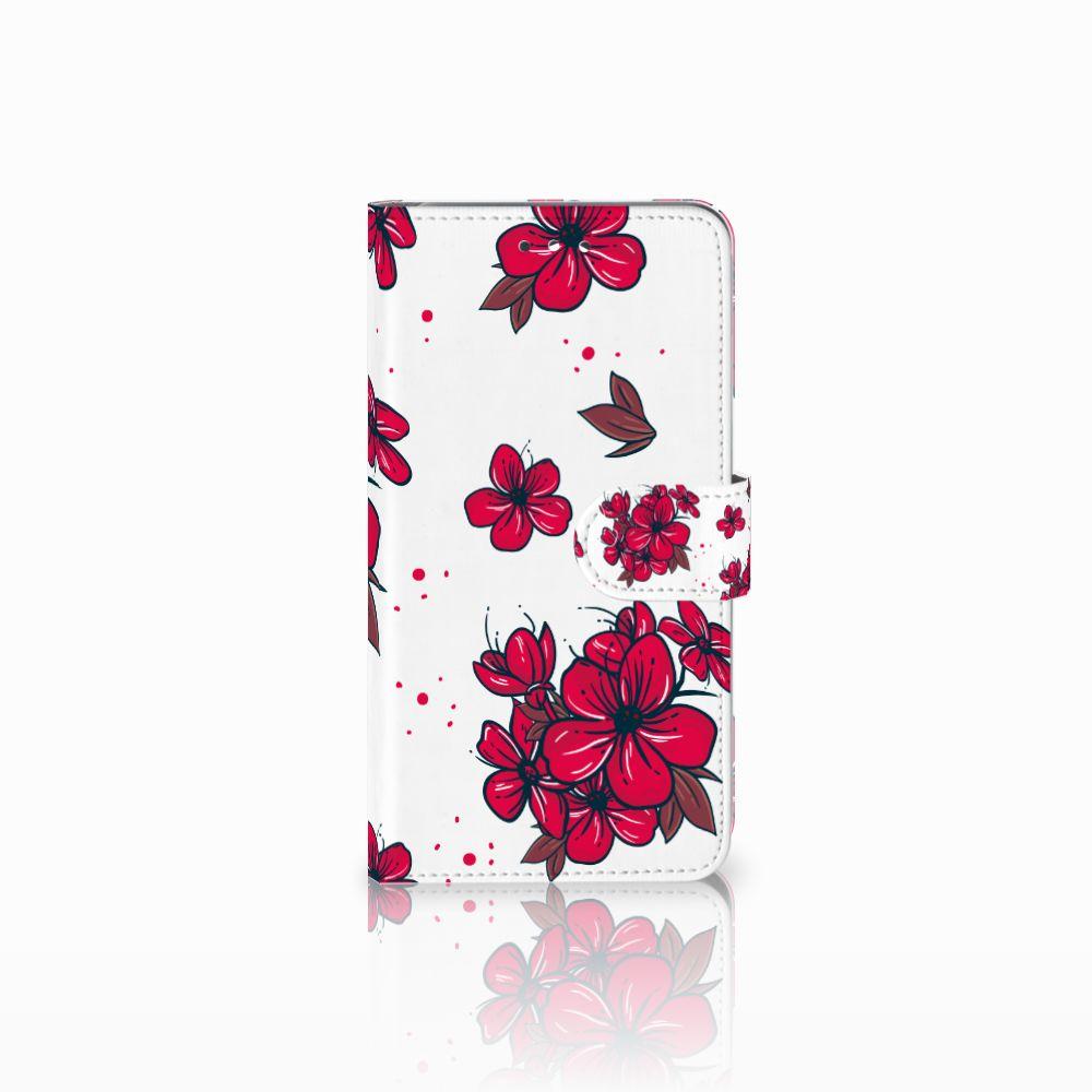 Huawei Y7 2017   Y7 Prime 2017 Boekhoesje Design Blossom Red