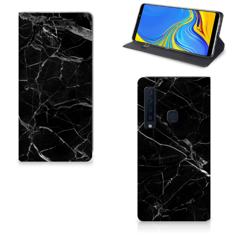 Samsung Galaxy A9 (2018) Standcase Marmer Zwart