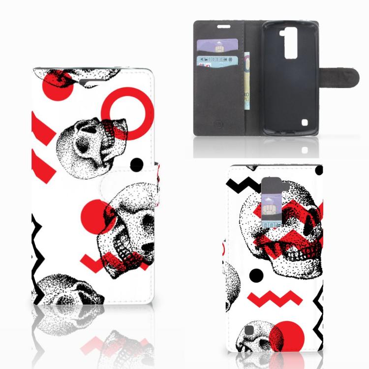 Telefoonhoesje met Naam LG K10 2015 Skull Red