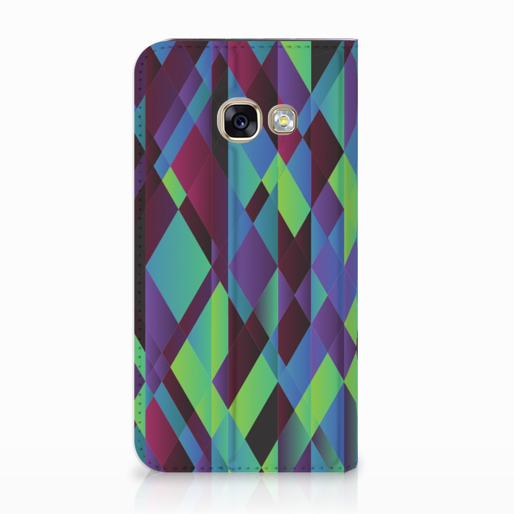 Samsung Galaxy A3 2017 Stand Case Abstract Green Blue
