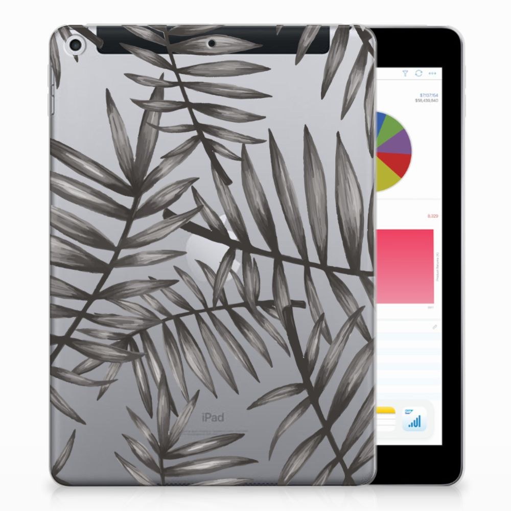 Apple iPad 9.7 2018 | 2017 Uniek Tablethoesje Leaves Grey