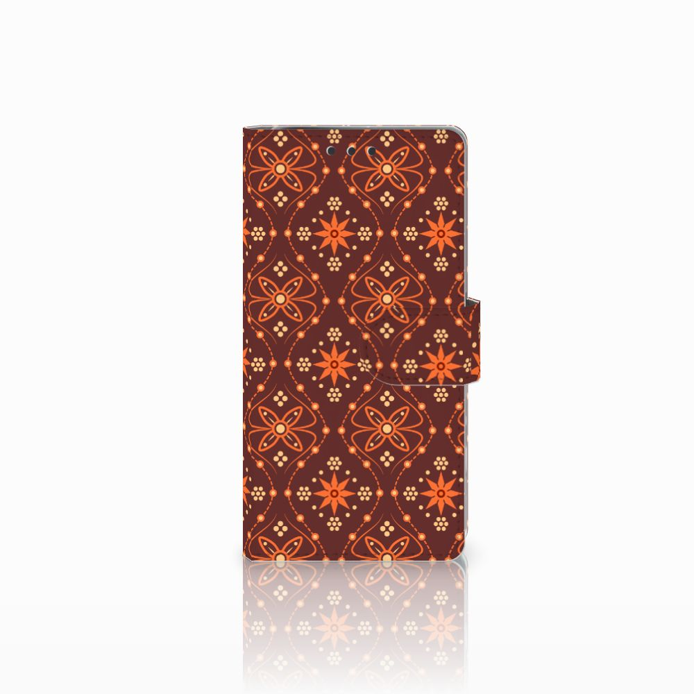 Sony Xperia X Performance Uniek Boekhoesje Batik Brown