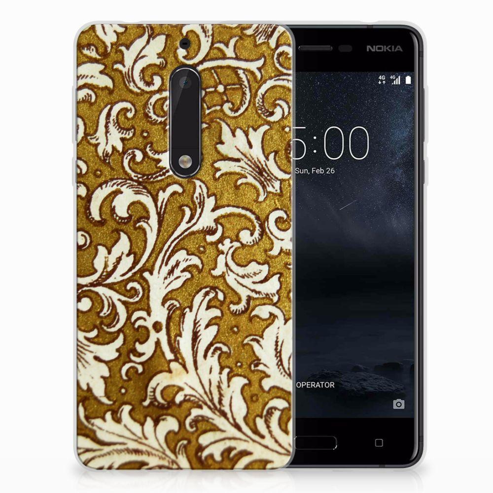 Nokia 5 TPU Hoesje Design Barok Goud