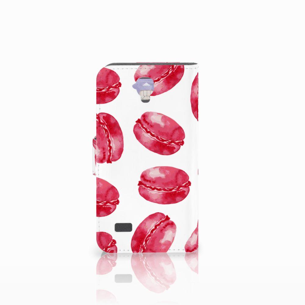 Huawei Y5 Y560 Book Cover Pink Macarons