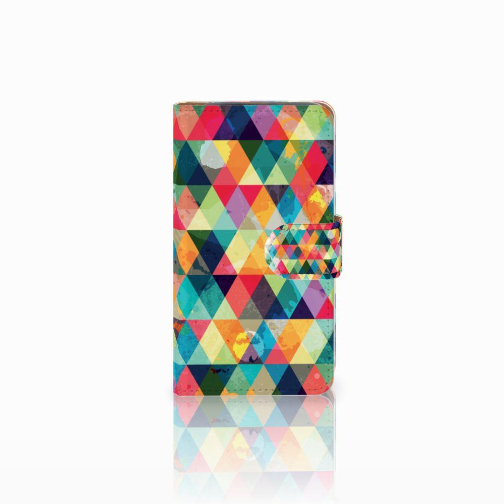 HTC Desire 310 Uniek Boekhoesje Geruit