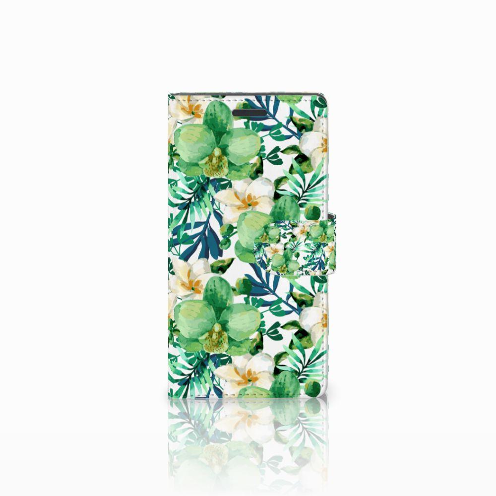 Nokia Lumia 830 Uniek Boekhoesje Orchidee Groen