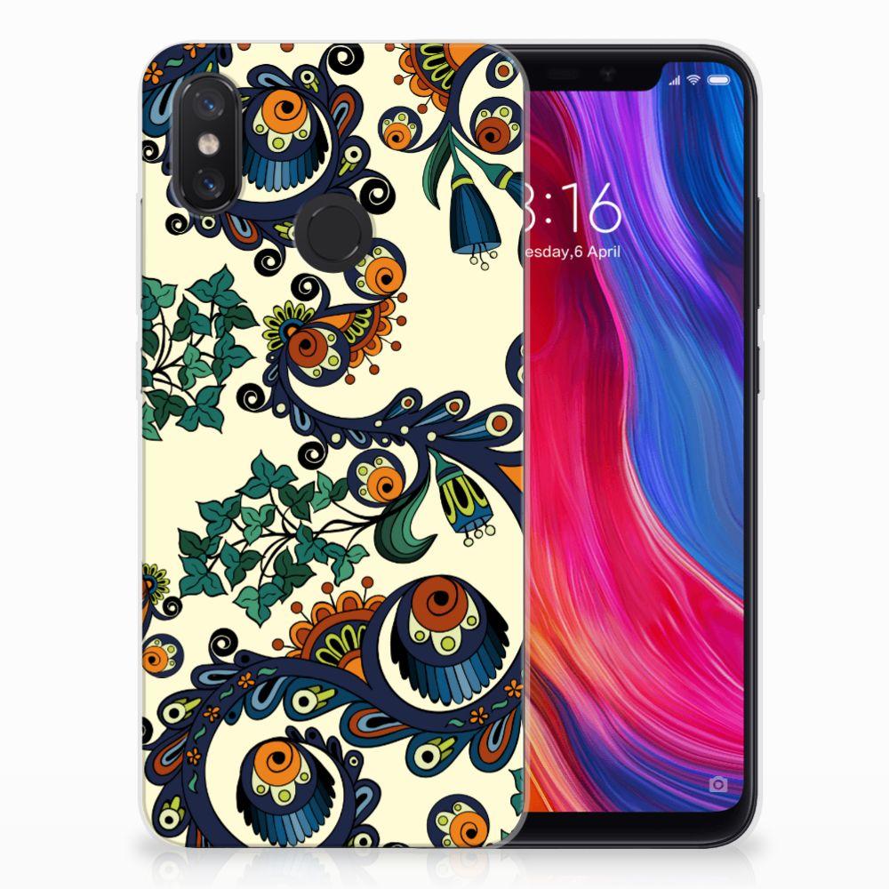 Siliconen Hoesje Xiaomi Mi 8 Barok Flower