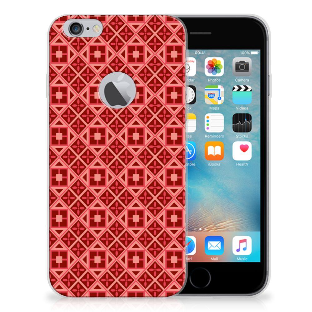 Apple iPhone 6 Plus | 6s Plus TPU bumper Batik Rood