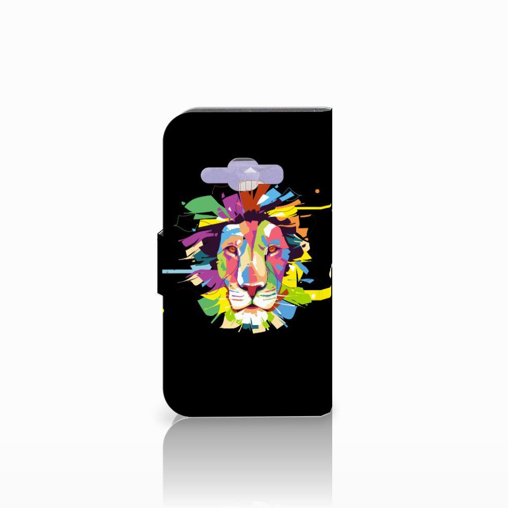 Samsung Galaxy J1 2016 Leuk Hoesje Lion Color