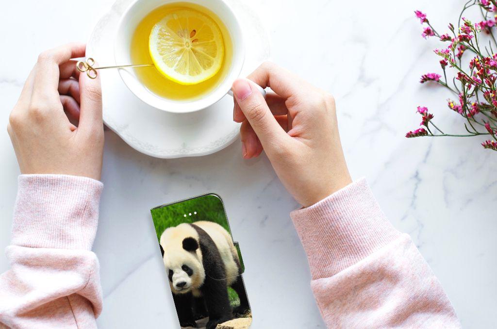 Apple iPhone 5 | 5s | SE Telefoonhoesje met Pasjes Panda