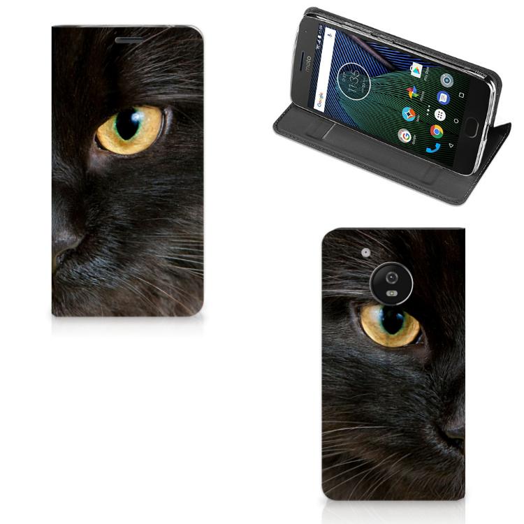 Motorola Moto G5 Hoesje maken Zwarte Kat