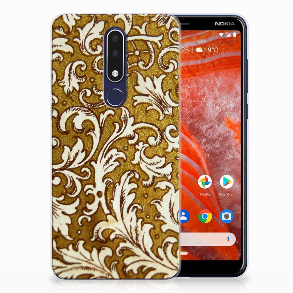 Siliconen Hoesje Nokia 3.1 Plus Barok Goud