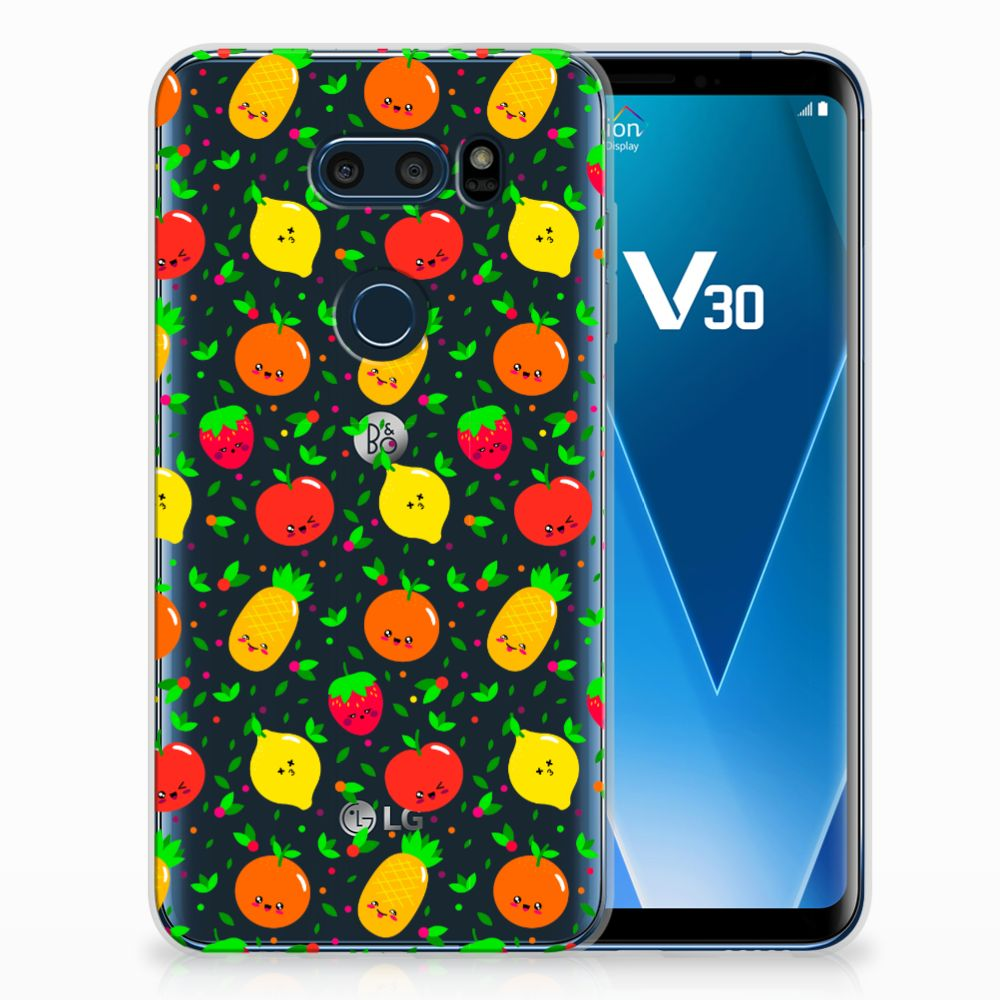 LG V30 Siliconen Case Fruits