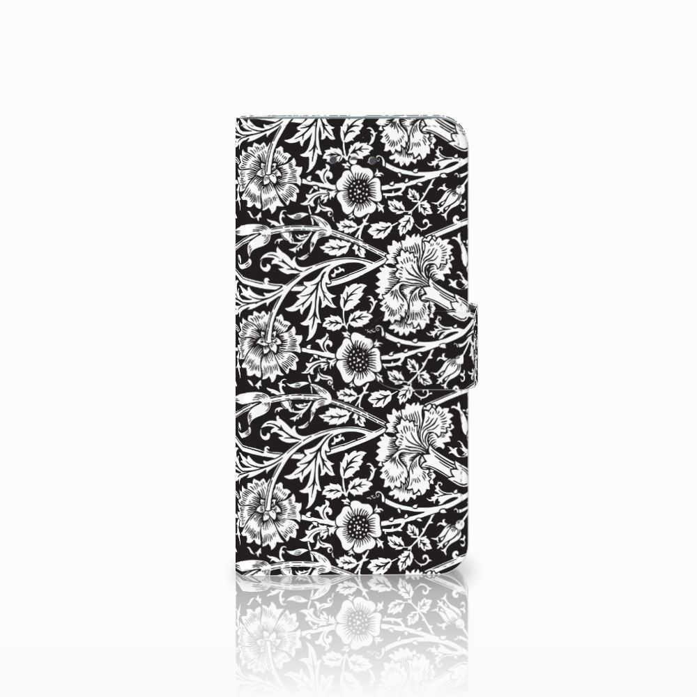LG Nexus 5X Uniek Boekhoesje Black Flowers