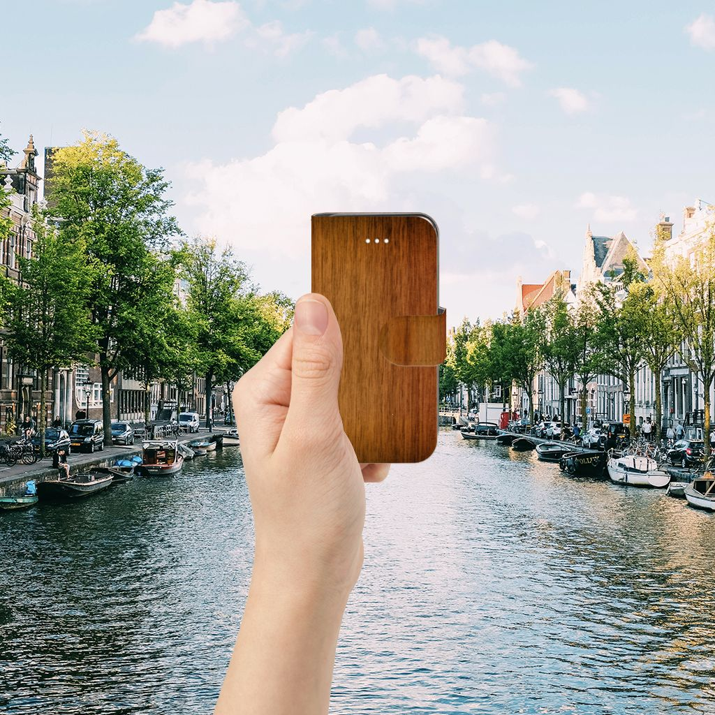 Apple iPhone 5 | 5s | SE Book Style Case Donker Hout